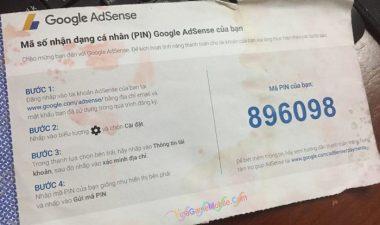 Giải đáp các thắc mắc về mã PIN của Google AdSense